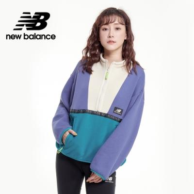 【New Balance】ALL TERRAIN 短版半開襟_女性_灰藍_AWT03529MBL
