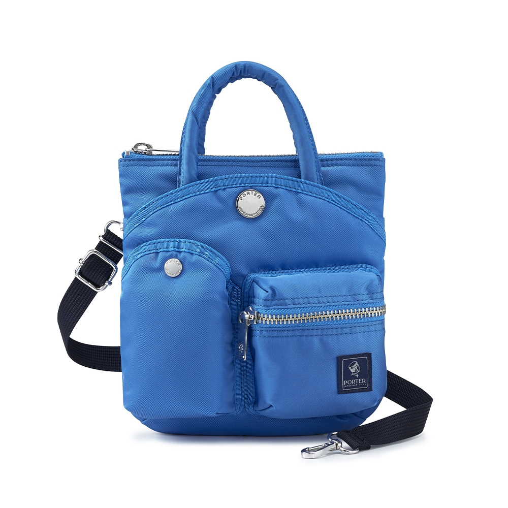 PORTER - 輕巧時髦POD手提輕便兩用斜背包 - 太平洋藍