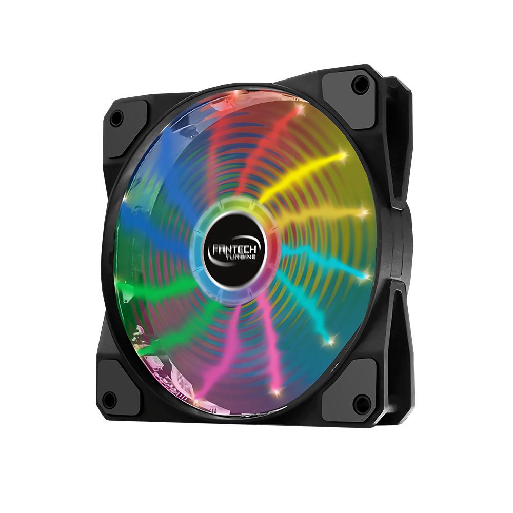 FANTECH RGB燈效防震靜音風扇(FC-123)