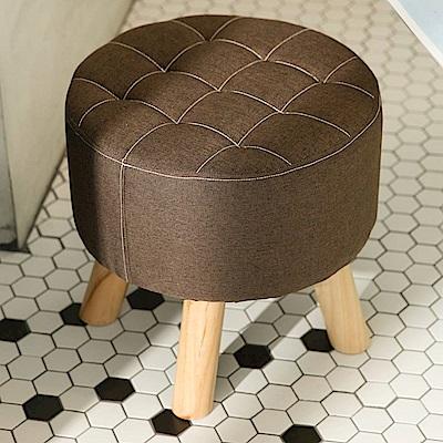 IDEA-日式圓形實木椅凳