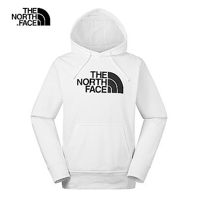 The North Face北面男女款白色休閒舒適連帽T恤|3VQWFN4