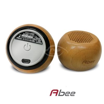 Abee 木頭立體聲雙聲道藍芽喇叭BT-2000
