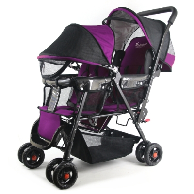 YipBaby 新款EX雙人手推車-紫羅蘭