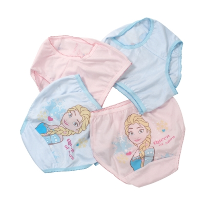 魔法Baby女童台灣製迪士尼冰雪奇緣純棉三角內褲(四件組) k51252