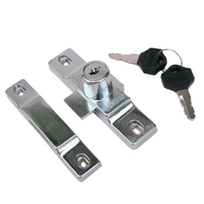 265 單豪華鋁門閂 平鎖(不含勾鎖)排片鎖 鋁門鎖 鋁門平閂 附鎖 固展鋁窗專用鎖