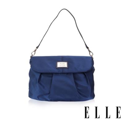 ELLE 法式優雅百褶設計肩背包- 寶藍