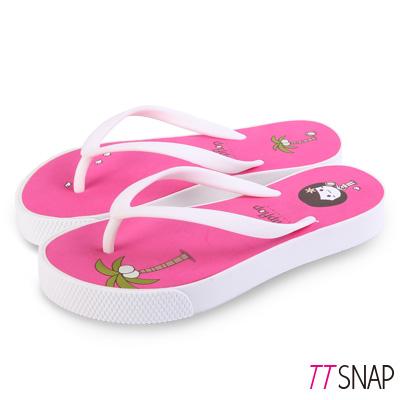TTSNAP拖鞋-MIT青春陽光可愛海灘涼拖 桃紅