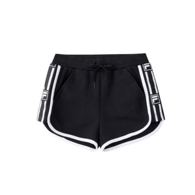 FILA KIDS #架勢新潮 女童短褲-黑色 5SHV-4415-BK