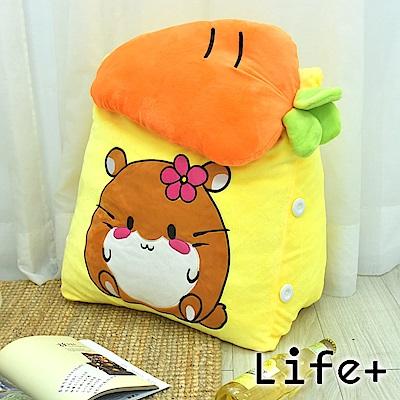 Life Plus 萌趣造型舒壓絨毛萬用靠枕/抱枕/腰靠枕 (老鼠)