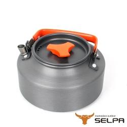 韓國SELPA 1.1L鋁合金茶壺熱水壺泡茶壺 紅色