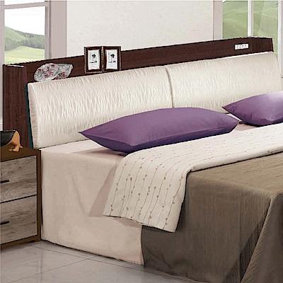 綠活居 凱斯5尺皮革雙人床頭箱(二色可選+不含床底)-150x30x90cm免組
