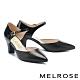 高跟鞋 MELROSE 極簡時尚異材質尖頭粗高跟鞋-黑 product thumbnail 1