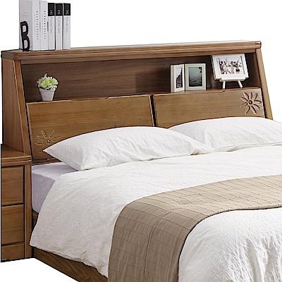 品家居 紐斯頓6尺實木雙人加大床頭箱-182x33x105cm免組