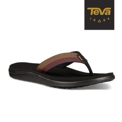 TEVA 男 Voya Flip 寬版織帶夾腳拖鞋-胡桃棕
