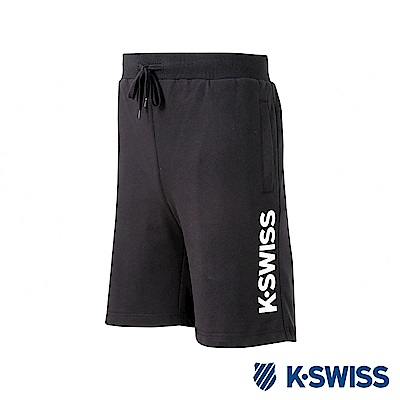 K-SWISS KS Logo Sweatshorts棉質短褲-男-黑