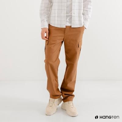 Hang Ten-男裝-REGULAR FIT附腰帶工作褲-駝色