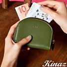 KINAZ 驚喜圓滑貼心分層零錢包-芥藍綠元素-小物魔法系列