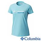 Columbia 哥倫比亞 女款-野跑防曬30快排短袖上衣-藍色UAR21300BL