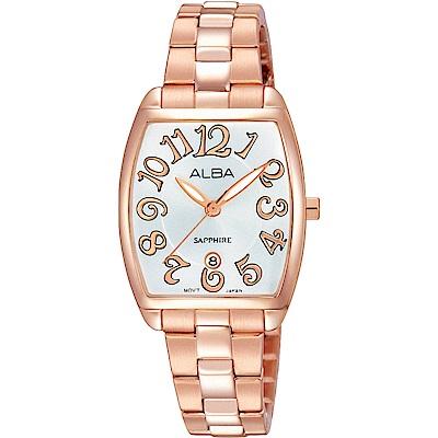 ALBA 大數字玩色時尚腕錶(AH7L26X1)-玫瑰金/26mm
