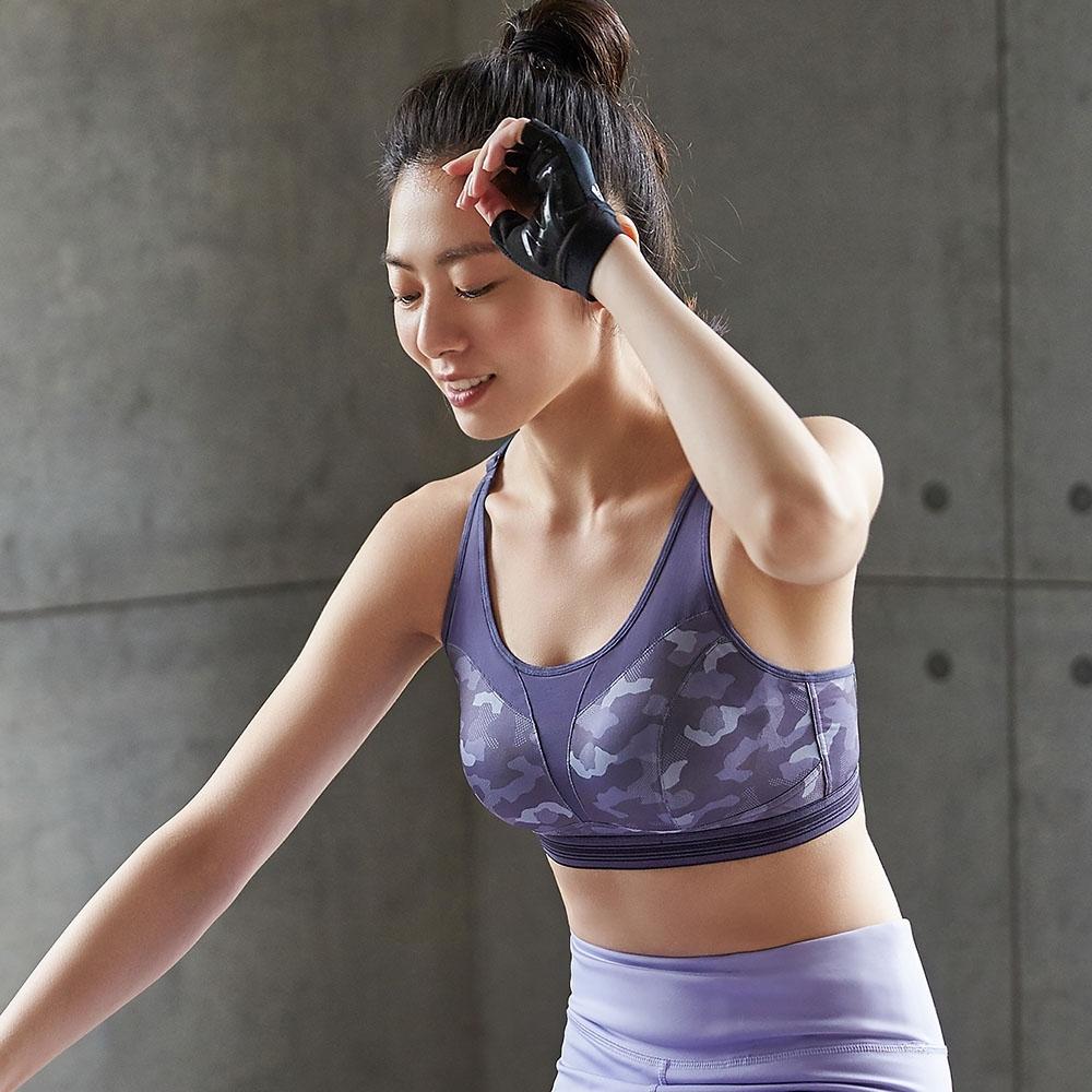 蕾黛絲-LadieSport律動 Level 3 釋壓背心  M-EEL 運動內衣 迷彩紫