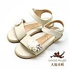 天使童鞋 仲夏微風雛菊涼鞋 J8007-12 米