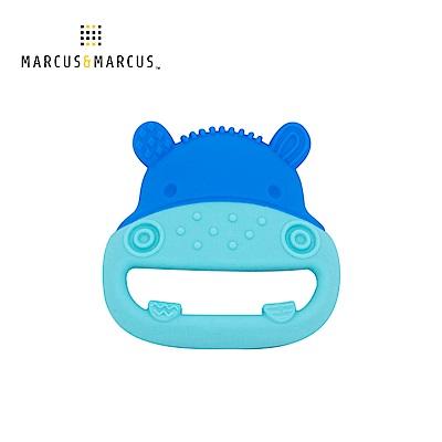 【MARCUS&MARCUS】動物樂園感官啟發固齒玩具-河馬(藍)