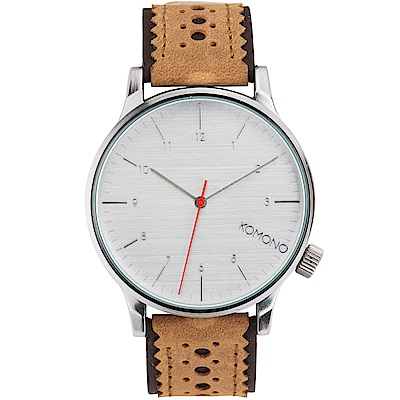 KOMONO Winston Brogue 腕錶-瑪奇朵雕花/41mm