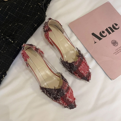 KEITH-WILL時尚鞋館 氣質仙女魅力尖頭粗跟鞋-紅