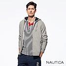 Nautica經典休閒連帽刷毛外套-灰