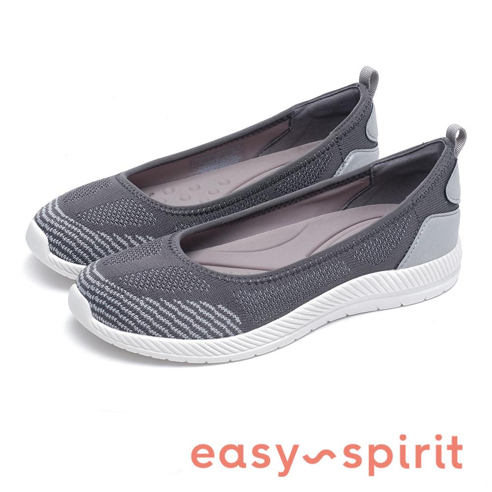 Easy Spirit GEINEE 針織透氣墊平底鞋-灰色