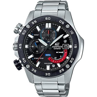 EDIFICE 三針三眼黑離子腕錶(EFR-558DB-1A)/48mm