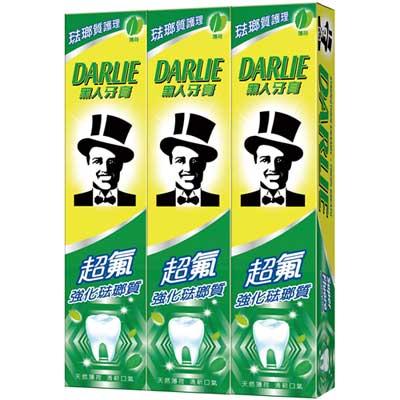 黑人 超氟強化琺瑯質牙膏 200gX3入