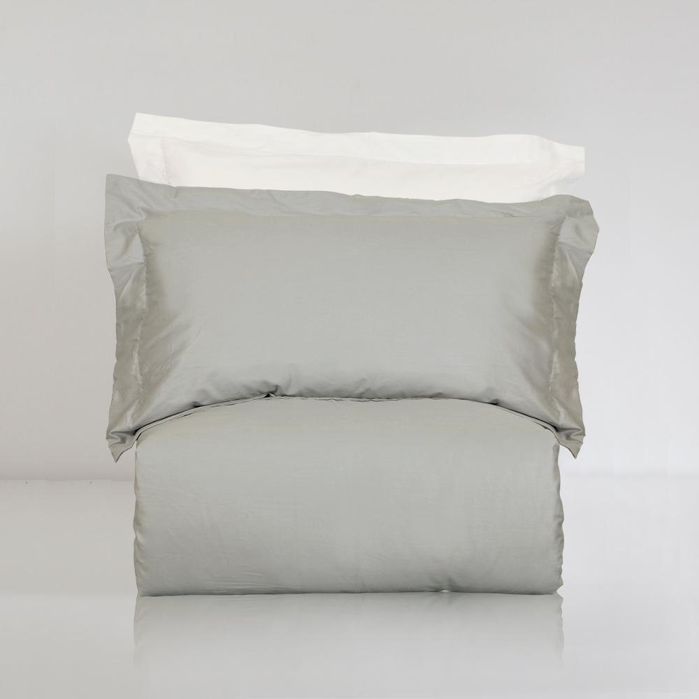 BUNNY LIFE 枕套-下雨灰-絲光精梳棉-純粹系列