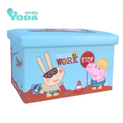 YoDa peppa pig 佩佩豬收納箱-喬治小工匠
