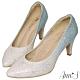 Ann'S艾莎女王-漸層色調冰雪手工燙鑽尖頭婚鞋-藍(版型偏小) product thumbnail 1