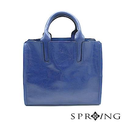 SPRING-朴秘書的柔軟真皮方包-寶石藍