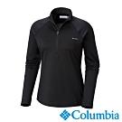 Columbia哥倫比亞 女款-保暖快排半開襟上衣-黑色 UAK11960