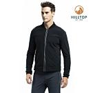 【hilltop山頂鳥】男款WS防風透氣保暖刷毛外套H22MX7黑美人