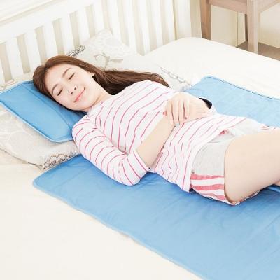 米夢家居-嚴選長效型降6度冰砂冰涼墊三件組90x140cm(1床+2枕)
