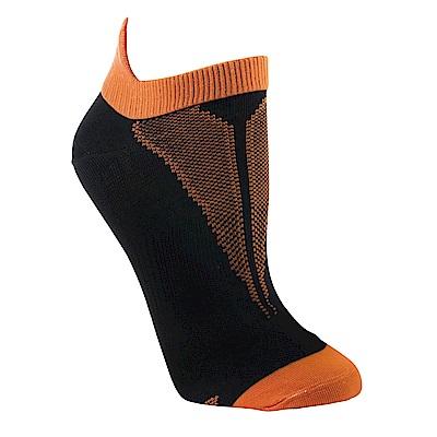 【ZEPRO】女子透氣慢跑踝襪-酷炫橘
