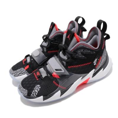 Nike 籃球鞋 Why Not Zer 03 男鞋 避震 包覆 喬丹 爆裂紋 明星款 球鞋 黑 灰 CD3002006