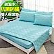 Ania Casa 翡翠藍 雙人床包式保潔墊 日本防蹣抗菌 採3M防潑水技術 product thumbnail 1