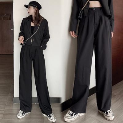 【韓國K.W.】(預購)優雅紳士百搭款上班西裝褲-1色