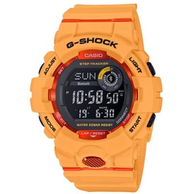 CASIO卡西歐 G-SHOCK系列 戶外風手錶(GBD-800-4)-黃/ 48.6mm