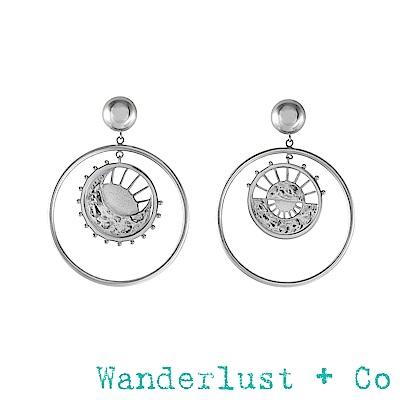 Wanderlust+Co黎明圓圈耳環 - 銀色