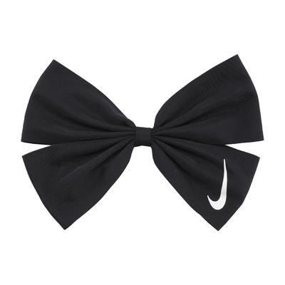 Nike 髮圈 Hair Bow 運動休閒 女款 蝴蝶結 紮頭髮 馬尾 俏皮 髮飾 黑 白 N100176401-0OS