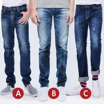 [時時樂限定]BRAPPERS 男款 修身魅力直筒褲(三款選)