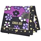 ANNA SUI SWINGING TOKYO系列圖騰字母LOGO帕領巾(黑/紫)