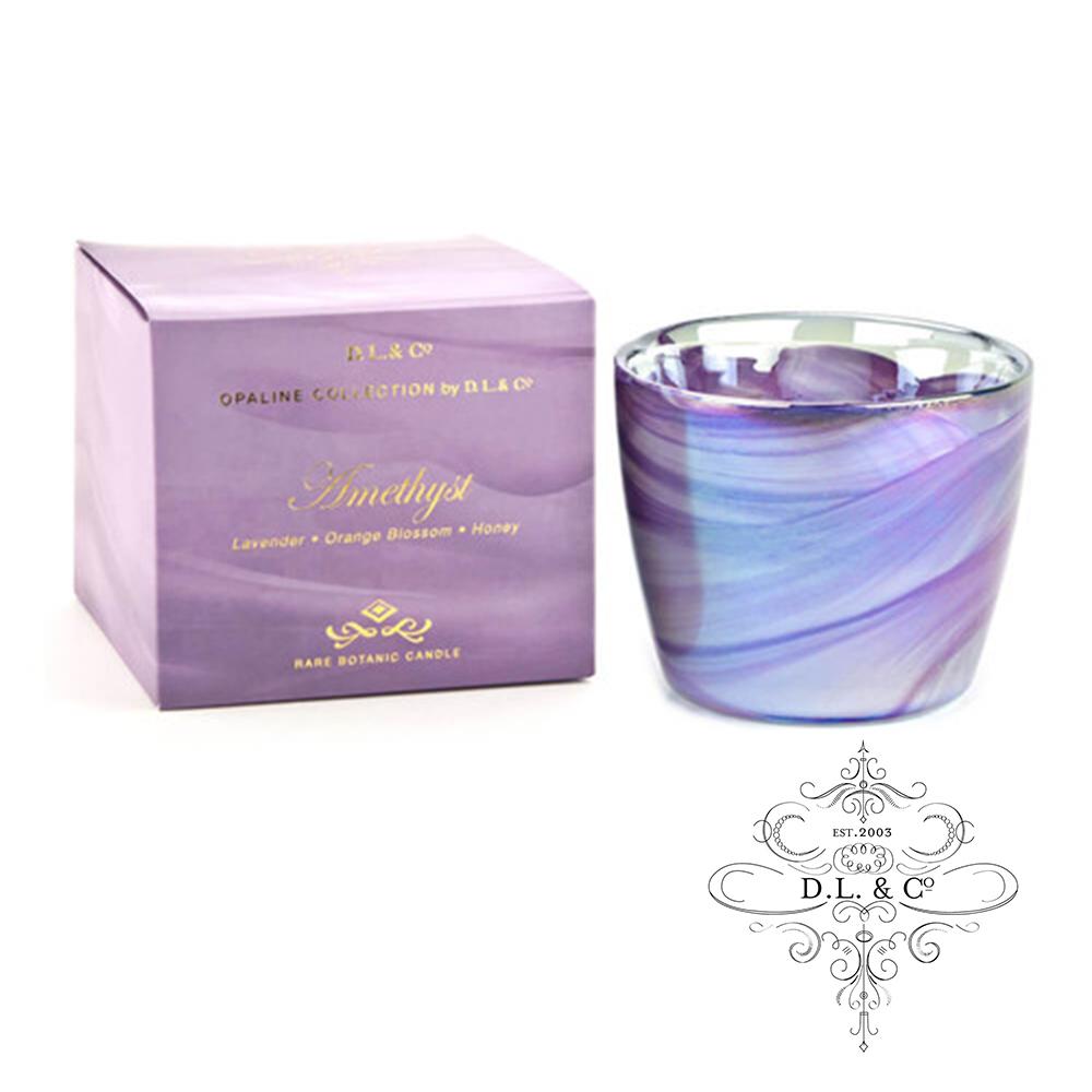 美國 D.L. & CO. 經典乳白光石系列 紫晶 香氛禮盒 340g