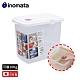 日本INOMATA 掀蓋式透明儲米箱10KG附量米杯 product thumbnail 1